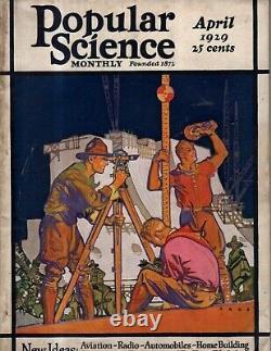 1929 Popular Science-avril-albert Einstein's Topsy Turvy Monde Cannonball Baker