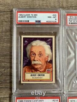 1952 Topps Look'n Voir #20 Albert Einstein Psa 8