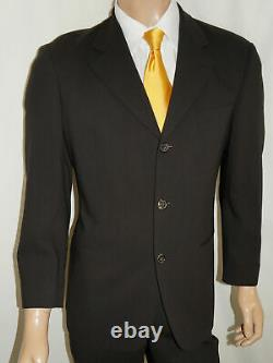 38s Hugo Boss 2 Pièces $895 Costume Hommes 38 Brown Wool Einstein 30x28