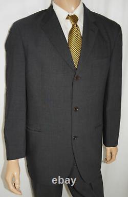 42r Hugo Boss Einstein/beta 2-piece Suit Hommes 42 Charbon De Bois 2btn Laine 36x31