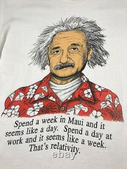 90s Vintage Albert Einstein C'est La Relativité Hommes T-shirt Grande Maille Simple