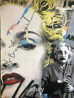 Affiche Originale De Litho M. Brainwash Love Est La Réponse Einstein Madonna Warhol