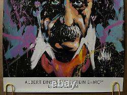 Affiche Vintage Originale Albert Einstein E=mc2 Poster De Style Psychédélique Pin Up
