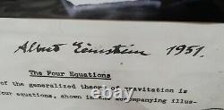 Albert Einstein Authentic Signé À La Main Autographe -daté -framed