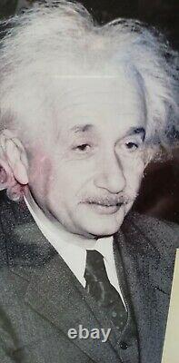 Albert Einstein Authentic Signé À La Main Autographe -framed