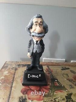 Albert Einstein Figure En Résine Rare Ornement Parfait État