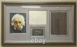 Albert Einstein Lettre Dactylographiée Signé Le 08/01/1940