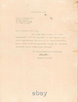 Albert Einstein Lettre Signé Princeton Robert O. Tenu En 1950