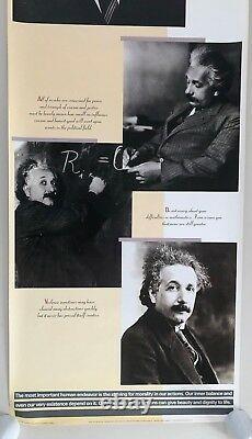 Albert Einstein, Rare Affiche De Porte Authentique 1988 XL 26 X 74