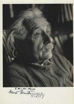 Albert Einstein Superbe Photo Signée Authentique, Avec Instantanés Et Télégramme