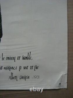 Albert Einstein Vintage Poster 1972 1931 Anti-guerre Paix Cng2153
