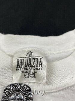 Andazia Albert Einstein T-shirt Vintage Taille L Single Stitch Stone Henge