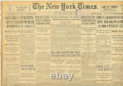 Boycott Nazi Einstein Fonds Saisi Hindenburg Hitler Photo Avril 2 1933 B26