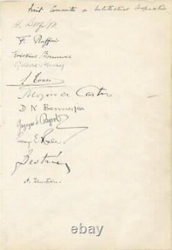 Document D'albert Einstein Signé Vers 1922 Avec Des Cosignataires