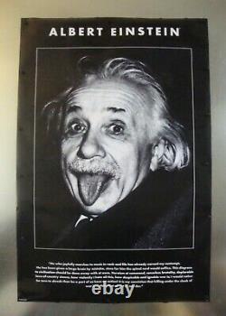 Einstein Sticking Tongue Out Vintage Art Poster 24w X 36h 2003 Utilisé Pré-possédé