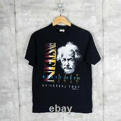 Einstein The Theory Of Relativity Vintage Andazia Rap Tee T-shirt Black Size M