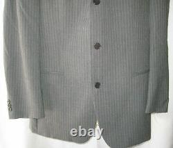 Hugo Boss 110's Einstein / Sigma Light Gray Pinstripe Suit Homme Sz 43 37x30