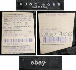 Hugo Boss 38r 32w Gris Brown Rayé 3 Bouton Einstein / Costume Sigma Q24