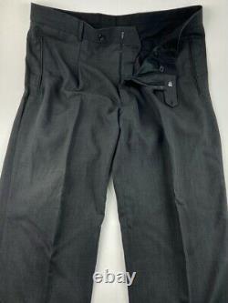 Hugo Boss Einstein Hommes 46r Gris Laine 2 Pièce Costume Avec Pantalons De Robe 38wx32l