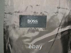 Hugo Boss Einstein Stretch Olive Green Subtle Weave Three Roll Two Suit 40s