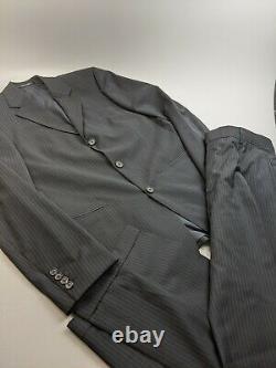 Hugo Boss Einstein/sigma Super 100 Blue Pinstripe Costume Sz 38 R 32x32