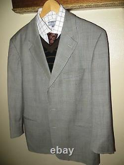 Hugo Boss Glen Plaid Einstein Omega Super 100 Costume Blazer 44 R Pants 36 X 28 Euc