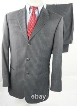 Hugo Boss Hommes Einstein Gray Pinstripe Costume Us Veste 38 Pantalon 32 Taille, 30 Inseam