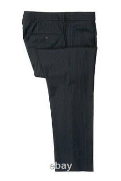 Hugo Boss Navy Blue Pinstriped Super 100s Einstein Sigma Suit 38r 15472