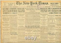 Les Allemands Boycottent Les Fonds D'einstein Saisi Hindenburg Hitler Photo 2 Avril 1933 B26