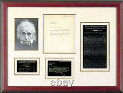 Lettre Dactylographyée Albert Einstein Signée 05/04/1933