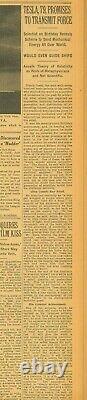 Nikola Tesla Revolutionary Discoveries Einstein'unscientific' Juillet 11 1935 B37