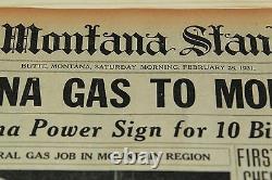 Original Newspaper Al Capone Gets First Jail 28 Février 1931 + Einstein News