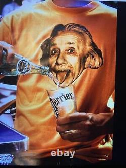 Original Vintage 1995 Français Perrier Einstein Poster