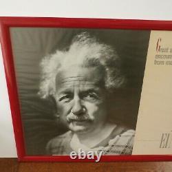 Original Vintage Albert Einstein Hébraïque Université Israël Poster Grands Esprits