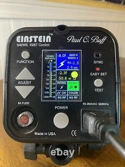Paul C Buff Einstein 640 Ws Unité Flash Avec Boîtier, Ampoules Supplémentaires Fonctionne Parfaitement
