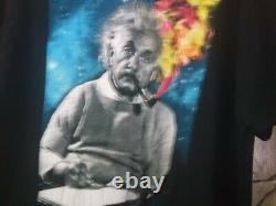 Pre-owned Mens Einstein Marque Albert Einstein Avec Cosmic Smoke Tshirt-2xl