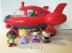 Rare Htf Disneys Little Einsteins Pat Pat Sound Lights Red Rocket Ship & Figures