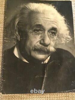 Rare Original Albert Einstein Photo Prix Nobel 4 X 5,5 Pouces Princeton