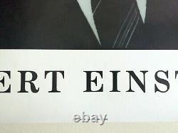 Rare Vintage 1988 Albert Einstein Estate Lithographie Imprimer Photo Portrait Affiche