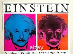 Rare Vintage 1991 Albert Einstein Faces Affiche De Pop Art Collector
