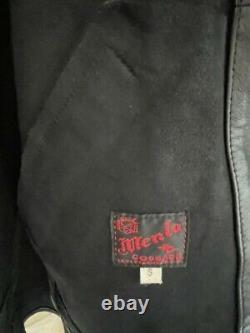 Rayons! Levis Menlo Cossack Veste Einstein Taille S Cuir Homme Black Moto