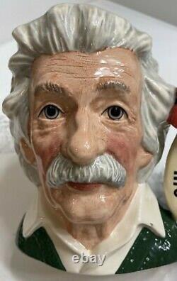 Royal Doulton Albert Einstein D 7023 Grand Personnage Toby Jug Mint