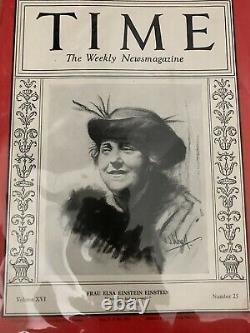 Time Magazine Elsa Einstein 22 Décembre 1930