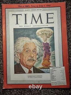 Time Magazine Juillet 1, 1946 Albert Einstein Cosmoclast Einstein