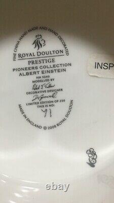 Très Rare Royal Doulton Hn5240 Albert Einstein Boxed/coa Ltd Edition 71/250 Menthe