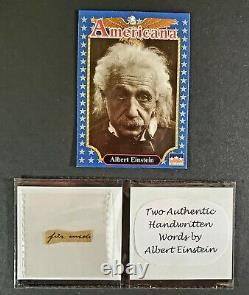 Two Authentic Handwritten Words Par Albert Einstein Gallery Of History Coa