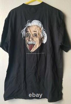 Vintage 1993 Albert Einstein T-shirt Noir Hommes XL