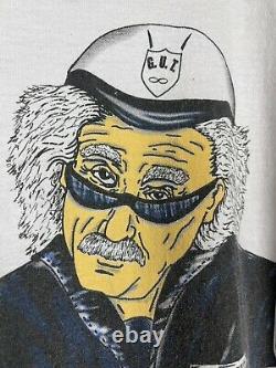 Vintage 2000s Albert Einstein Police Officer Artwork Promo Tee Chemise Taille XL