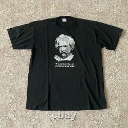 Vintage 80s Albert Einstein E=mc(2) Black Thin Soft Citation T-shirt Taille M/l Rare