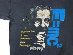 Vintage Albert Einstein Chemise 90s Science Imagination V15